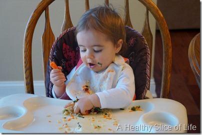 Munchkin Meals- challenges- no utensils messy