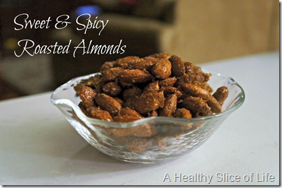 sweet and spicy roasted almonds- recipe