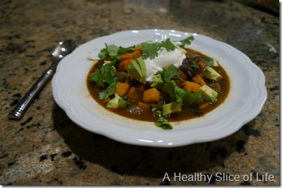 trouble with calorie counting- sweet potato chili