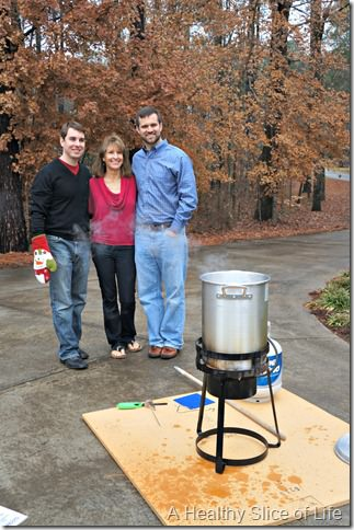 Christmas- frying turkey