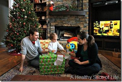 Christmas- present opening
