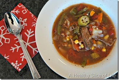 Christmas- vegetable beef soup