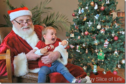Christmas weekend- Hailey scared of Santa