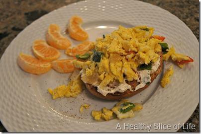 bagel egg scramble