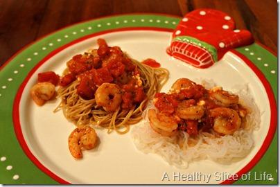holiday wiaw- shrimp pasta two ways