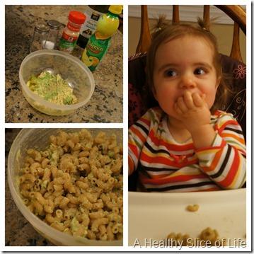 munchkin meals- avocado pasta