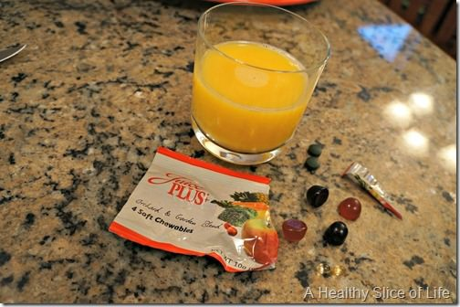 eats on new years day- juice and juice plus