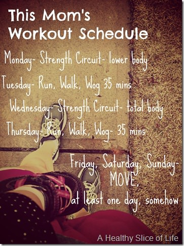mom workout schedule