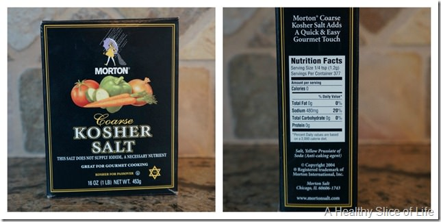 salt comparison- Morton Kosher salt