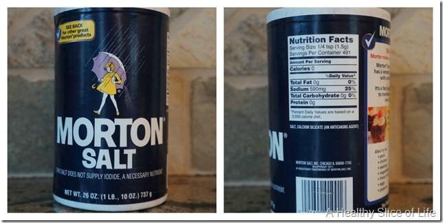 salt comparison- Morton table salt