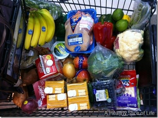 what I learned- grocery cart eat in month