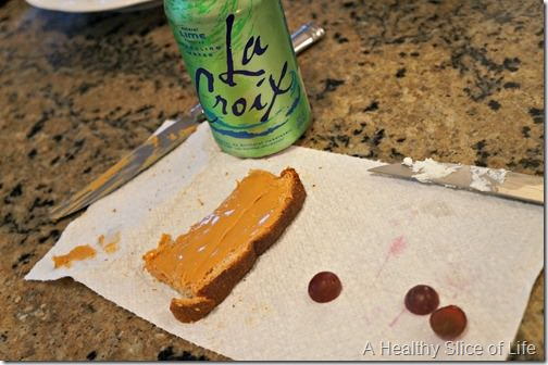 whole30 not for me- peanut butter toast