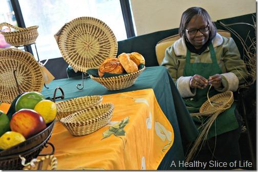 Charleston- market woven grass baskets