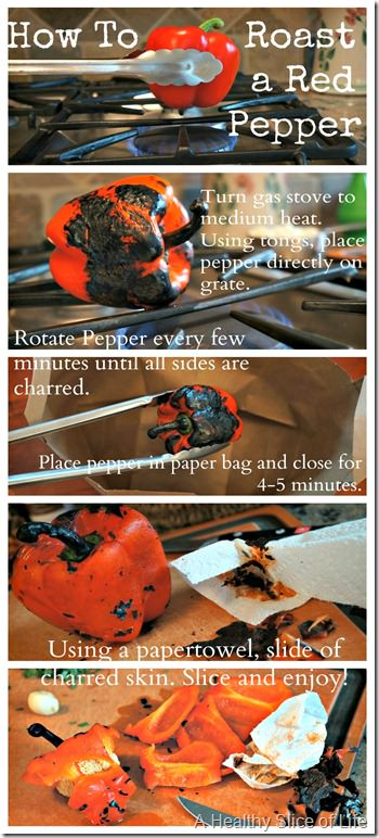 how to roast a red pepper- stovetop