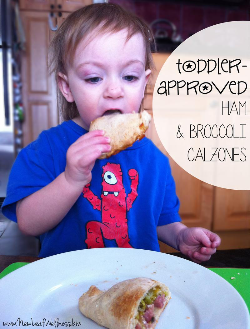 toddler approved ham and broccoli calzones