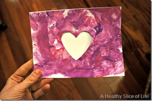toddler valentine art- card for dad