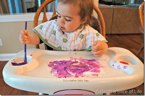 toddler valentine art- focusing