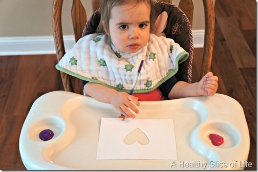 toddler valentine art- unsure