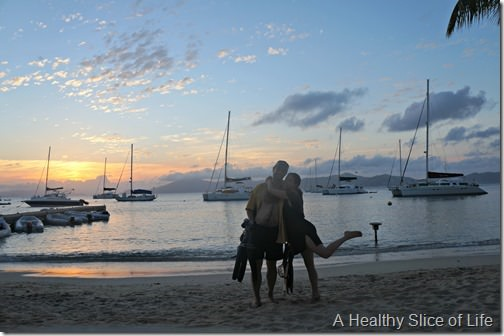 BVI sailing- Cooper Island sunset