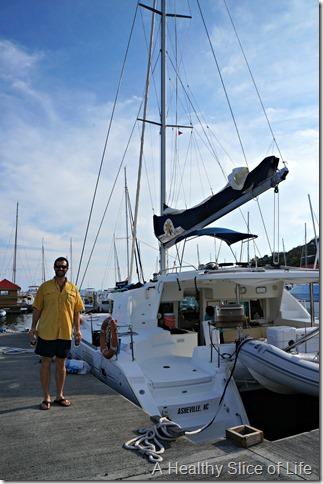 BVI sailing- Festiva Lagoon 440