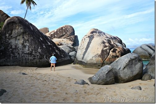 BVI sailing- Virgin Gorda- The Baths- far away