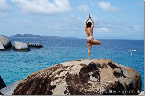 BVI sailing- Virgin Gorda- The Baths- yoga poses 3