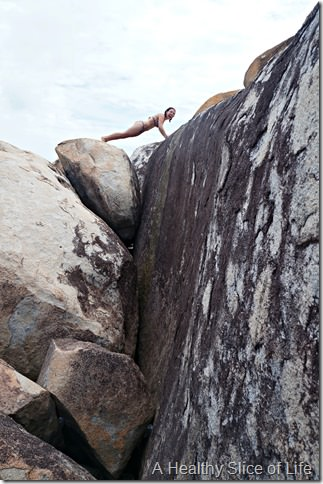 BVI sailing- Virgin Gorda- The Baths- yoga poses 4