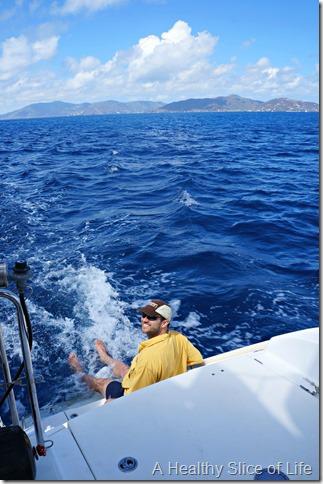 BVI sailing- feet dragging