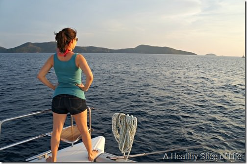 BVI sailing- into the sunset