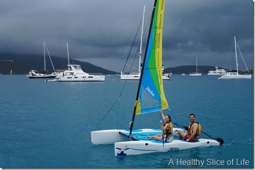 March Sailing BVI- Bitter End yacht club- hobie cat