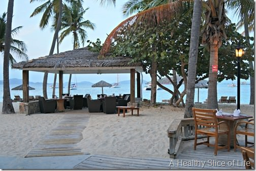 March Sailing- BVI- Peter Island beach restaurant