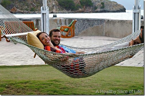 March Sailing- BVI- Peter Island hammock view
