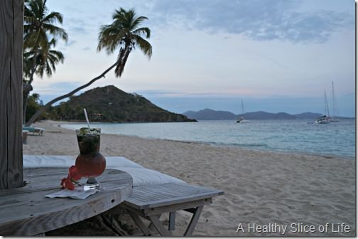 March Sailing- BVI- Peter Island view