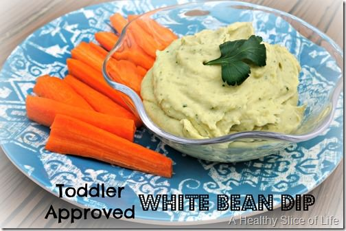 toddler approved white bean dip