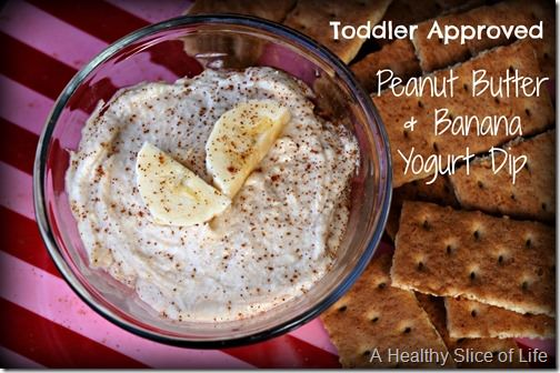 toddler dips-peanut butter chobani dip- close up