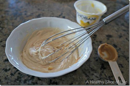 toddler dips-peanut butter chobani dip- mixing