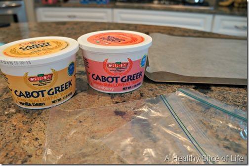 kid friendly frozen yogurt drops- materials