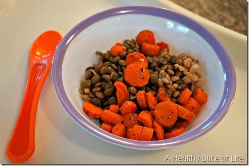 munchkin meals- 18 months old- barley lentil bowl