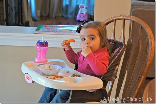 munchkin meals- 18 months old- eating lunch