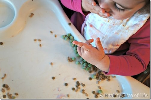 munchkin meals- 18 months old- frozen peas