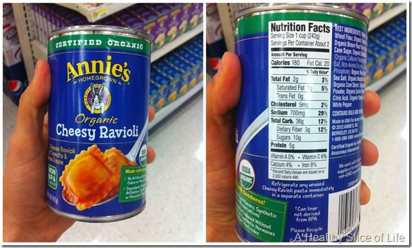 too much sodium for toddlers- canned ravioli