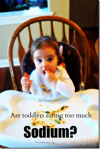 too much sodium for toddlers