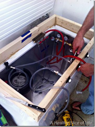 weekend- homemade kegerator