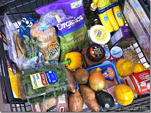 weekly food prep- grocery cart