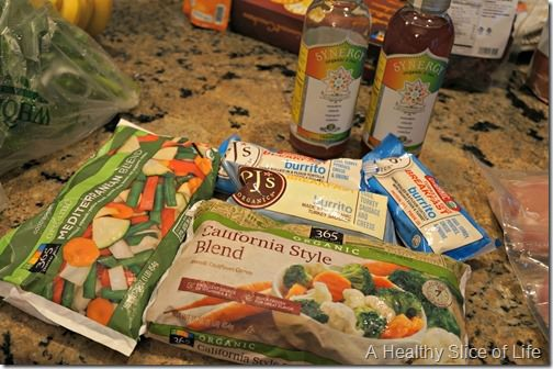 whole foods shopping- frozen