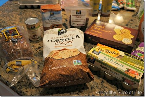 whole foods shopping- pantry items