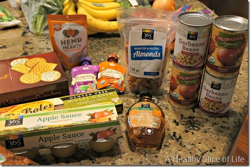 whole foods shopping- pantry