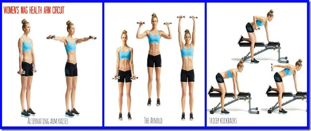 week of workouts- Women's Health arm circuit