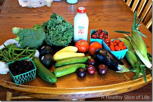 backwards grocery shopping- farmers market haul