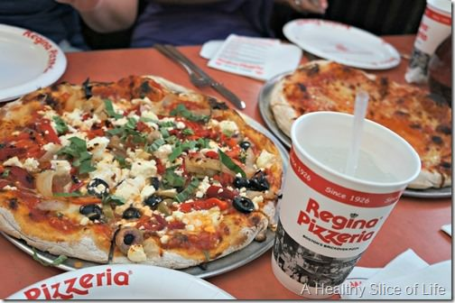 boston girls weekend- day 2- Regina's famous pizza